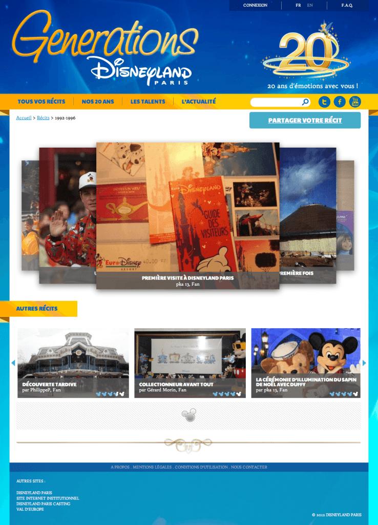 Disneyland Paris Generations - Caroussel par dates