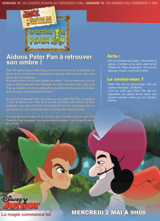 Temps forts chaînes Disney Avril / Mai 2012 : Le retour de Peter Pan dans Jake et les pirates du pays imaginaire ! 11