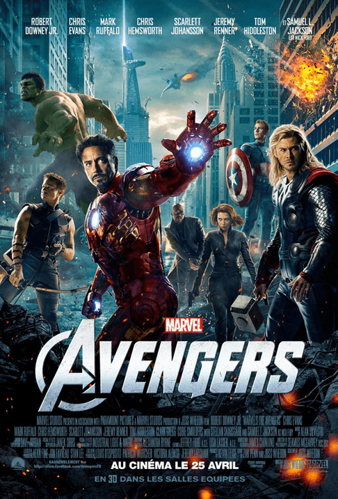 Marathon Marvel - Affiche The Avengers