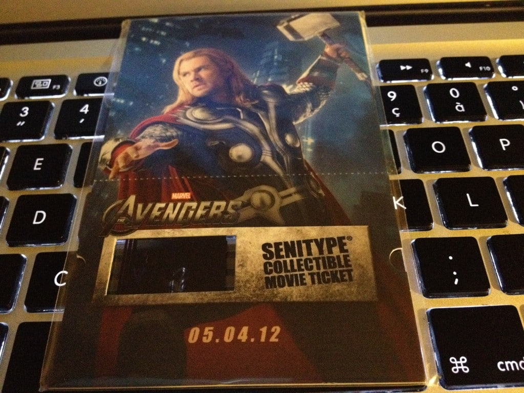 Marathon Marvel - Billet SENITYPE COLLECTIBLE MOVIE