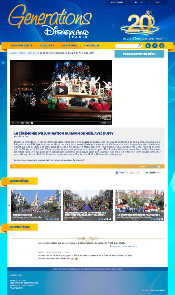 Disneyland Paris Generations - La cérémonie d'illumination du sapin avec Duffy