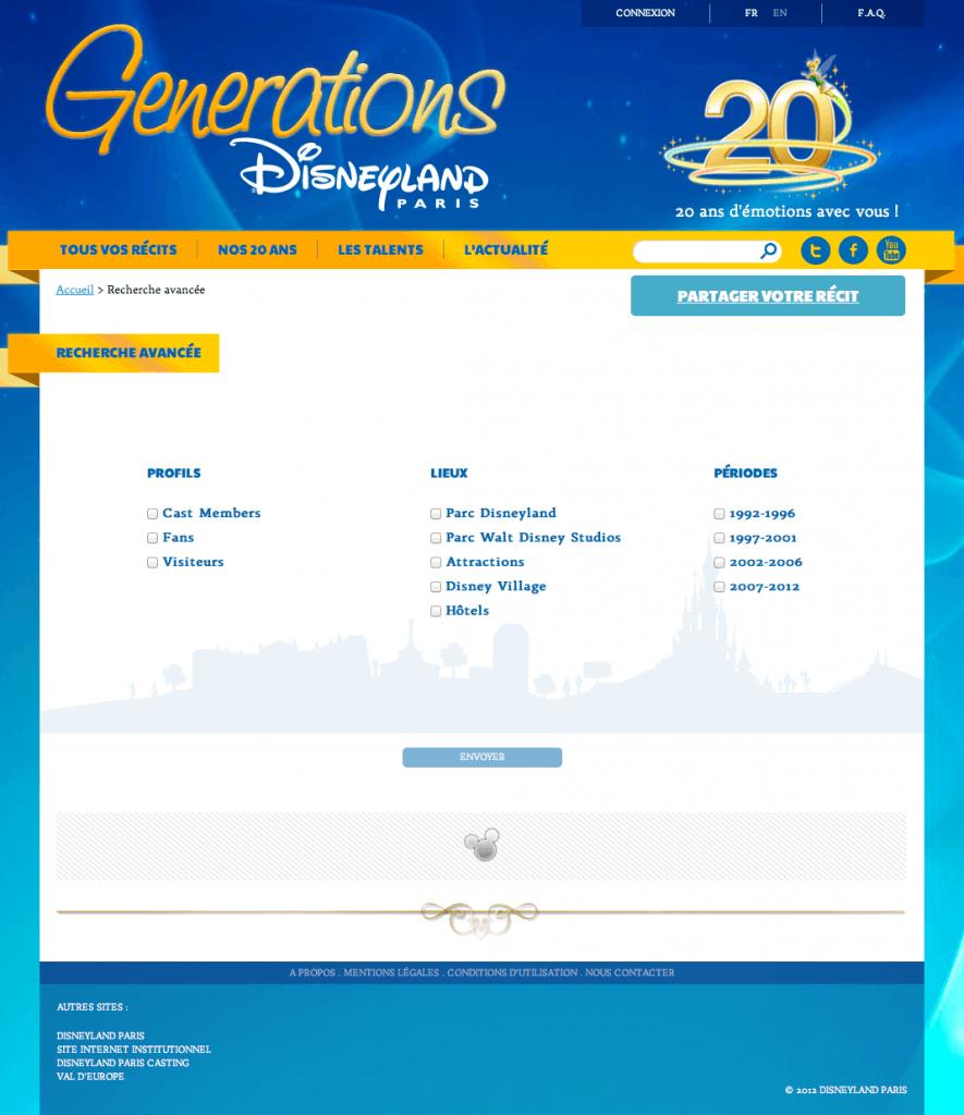 Disneyland Paris Generations - Recherche avancée