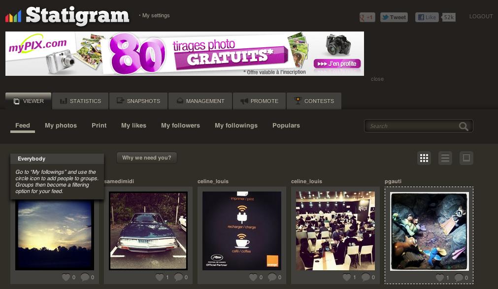 Visualiser votre flux Instagram sur votre navigateur