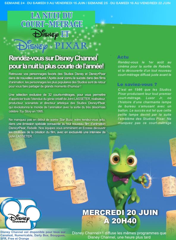 Disney Channel - 20 Juin 2012 - Soirée spéciale courts-métrages Disney Pixar