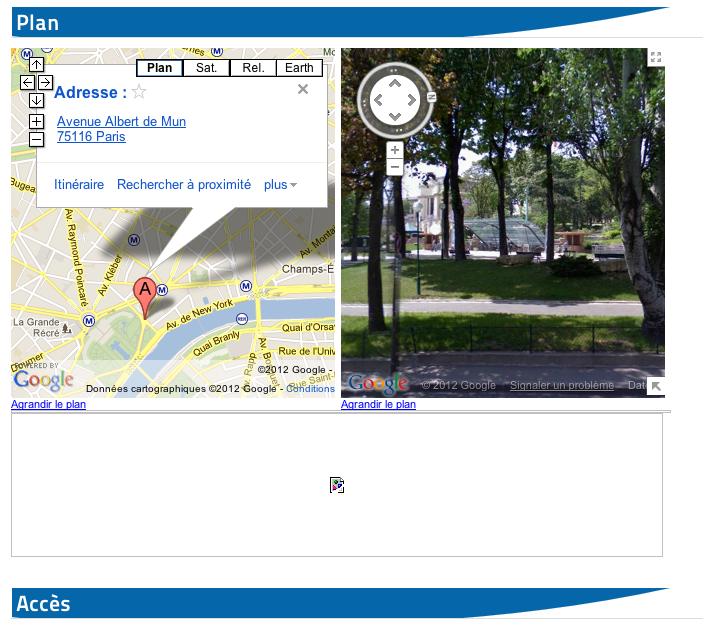 Aquarium de Paris - Nouveau site web - Google Map - Google Street View