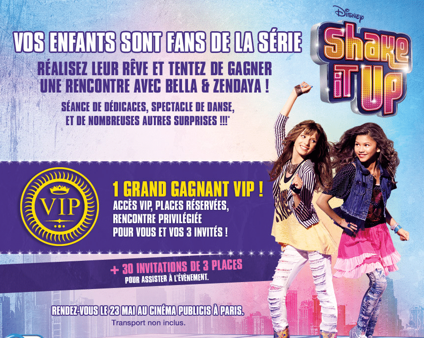 Shake It Up - Concours site web Disney Privileges
