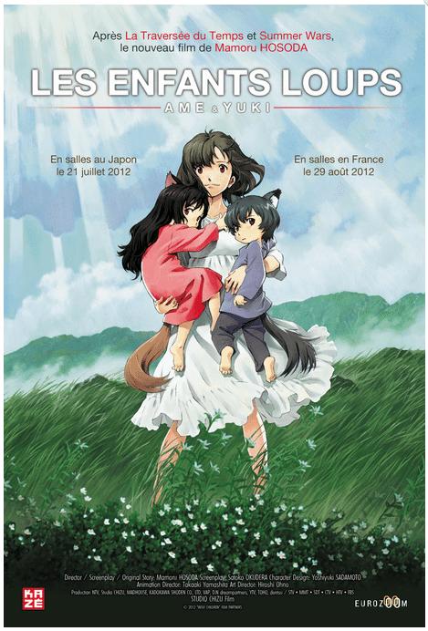 Les Enfants Loups Ame et Yuki - Affiche