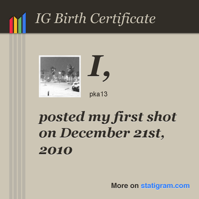 IG Birth Certificate - Ma naissance sur Instagram