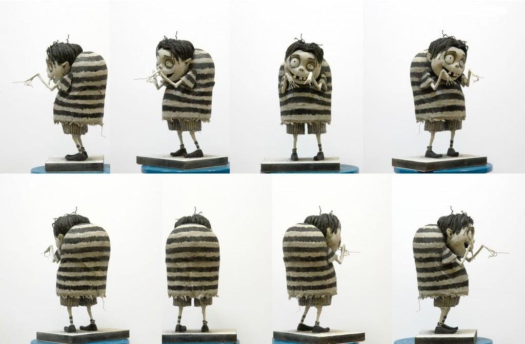 Tim Burton - Frankenweenie - Coulisses - Maquette Edga-E-gore-turnaround