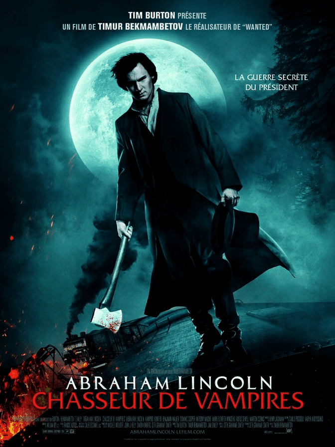 Affiche Abraham Lincoln Chasseur de Vampire