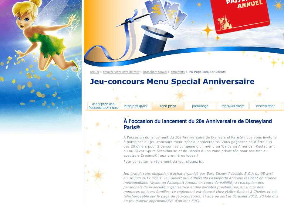 Concours Dreams Passeports Annuels