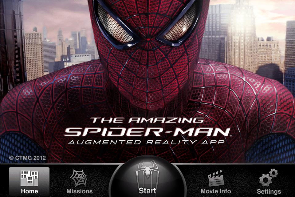 The Amazing Spiderman - AR - App 1 - Accueil
