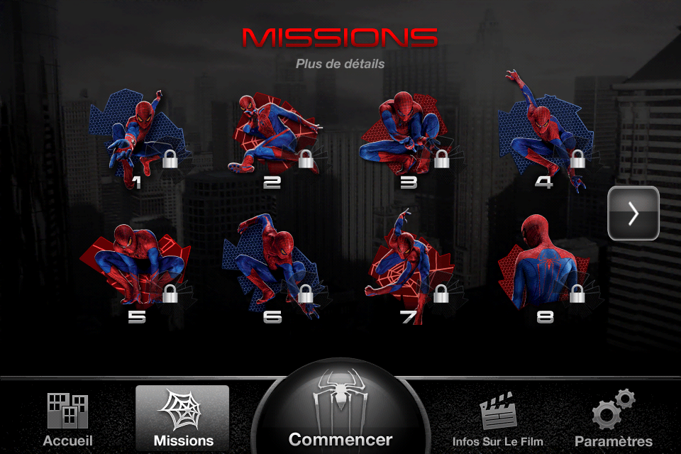 The Amazing Spiderman - AR - App 5 - Les Missions