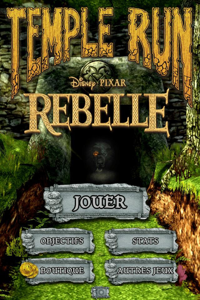 Temple Run Brave Rebelle - Accueil