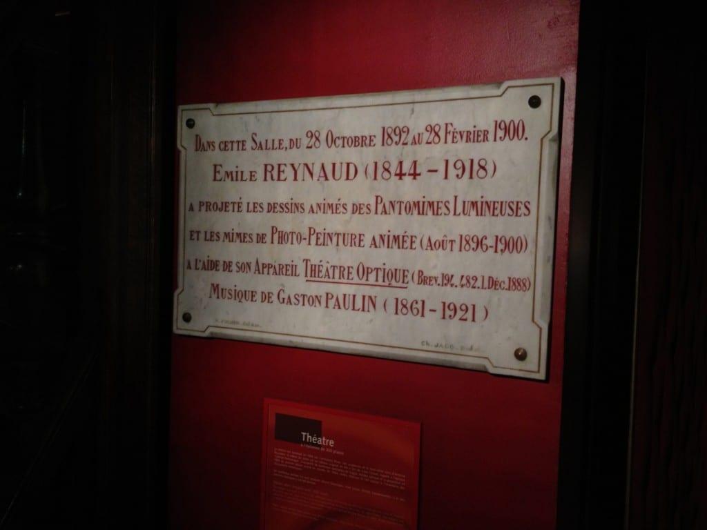 Musée Grévin - Plaque Commémorative Emile Reynaud