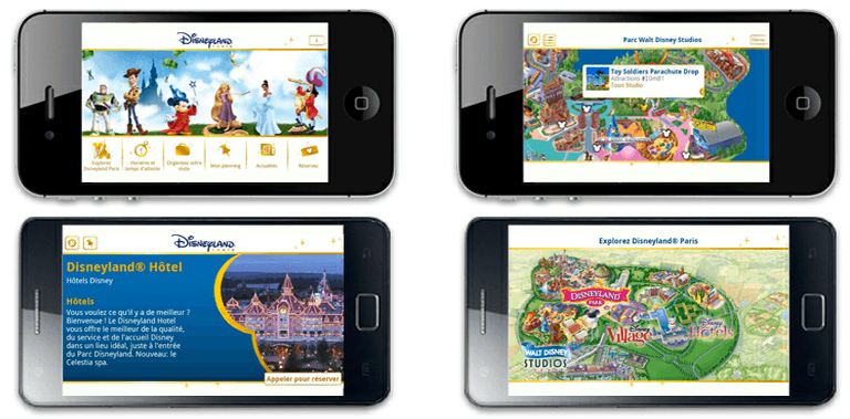 Application iPhone Disneyland Paris
