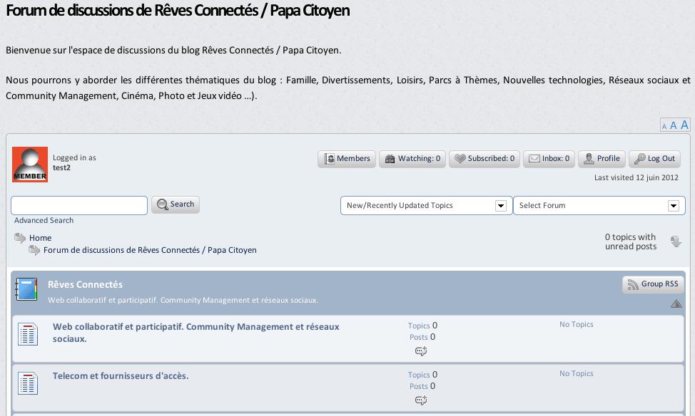 Espace de discussion - Forum - Rêves Connectés Papa Citoyen