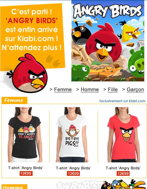 Angry Birds Kiabi