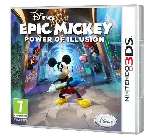 Epic Mickey Power of Illusion 3DS Boîte