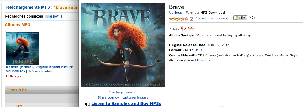 Réduction Amazon.com Brave Rebelle