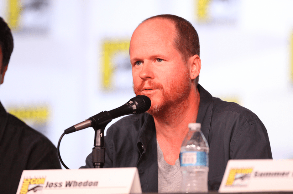 Joss Whedon speaking at the 2012 San Diego Comic-Con International in San Diego