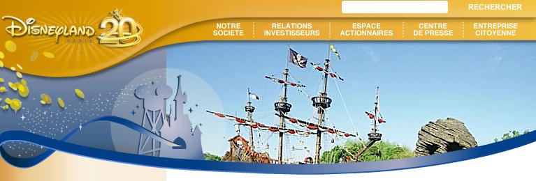 Site Club Actionnaire - Le Galion d'Adventureland