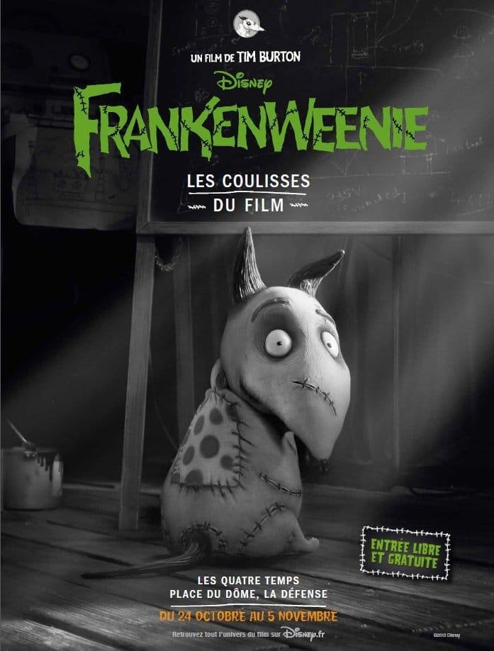 L'art de Frankenweenie - l'affiche de l'exposition
