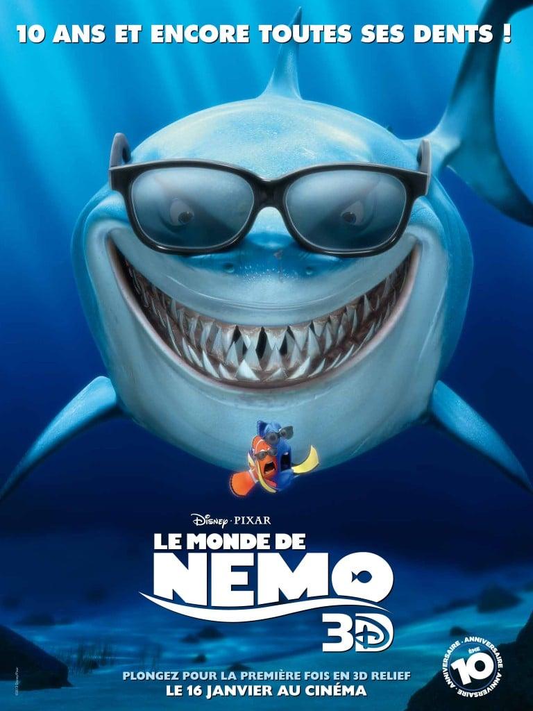 Affiche Le Monde de Nemo 3D version FR