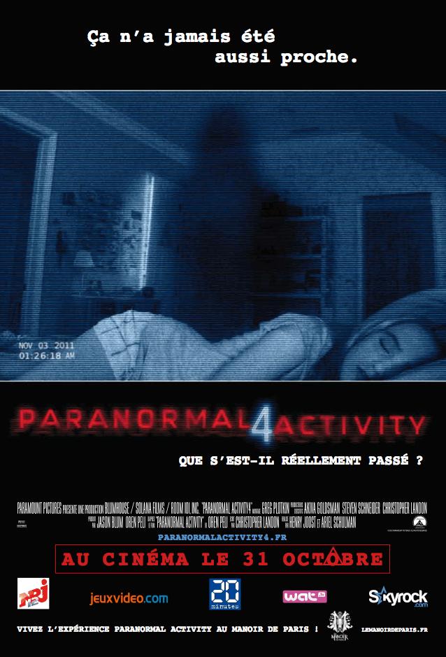 Paranormal Activity 4 au Manoir de Paris