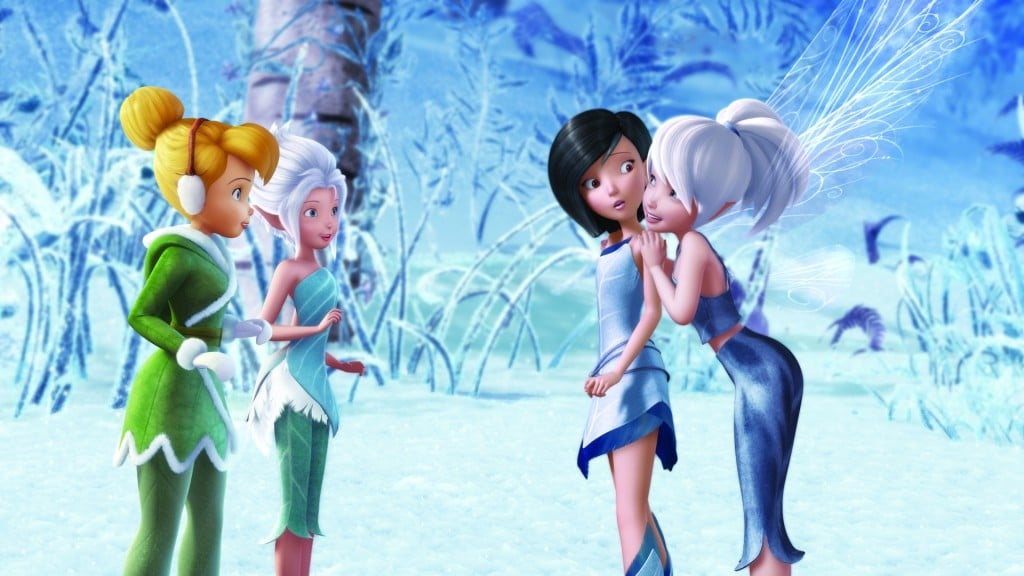 """""""Secret of the Wings""""..L-R Tinker Bell, Periwinkle, Spike and Gliss"""