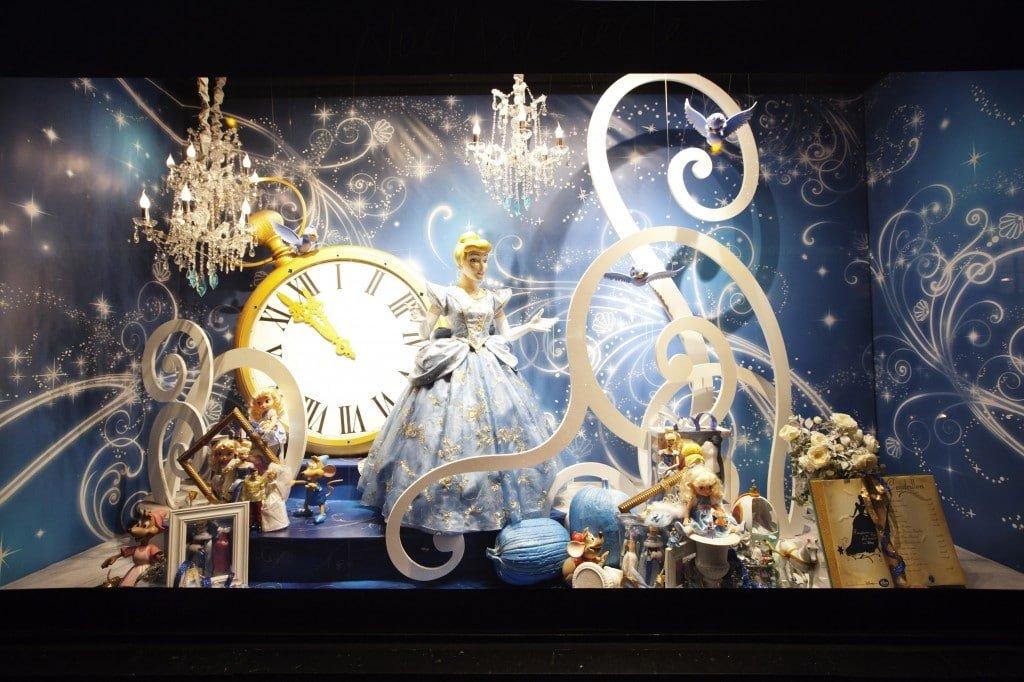 Galeries Lafayette - Disney - Noël 2012 - Vitrine Cendrillon