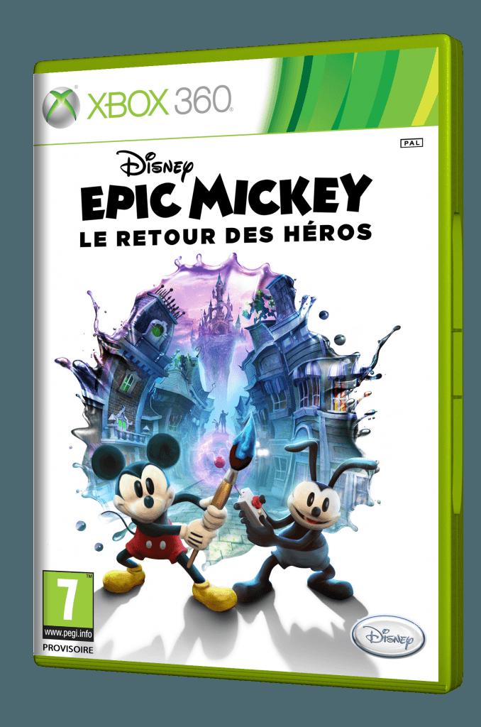 Boîtier Epic Mickey : Le Retour des Héros sur XBOX 360