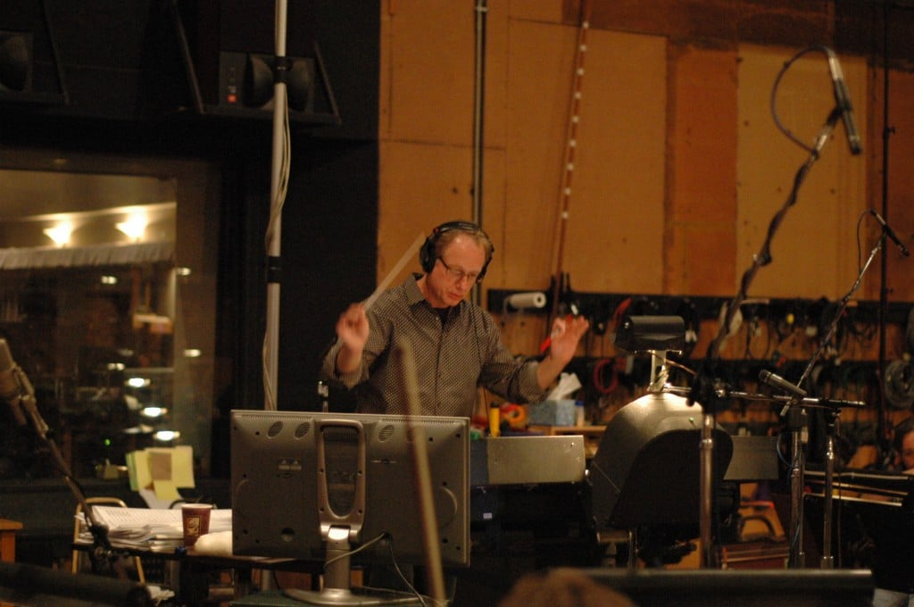 Recording at Sony for Tinker Bell and the Lost Treasure 2009