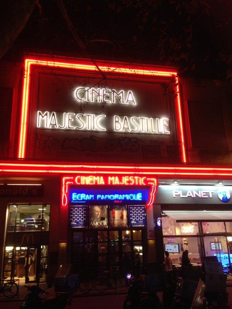Mon Premier Festival - Cinema Majestic Bastille de nuit