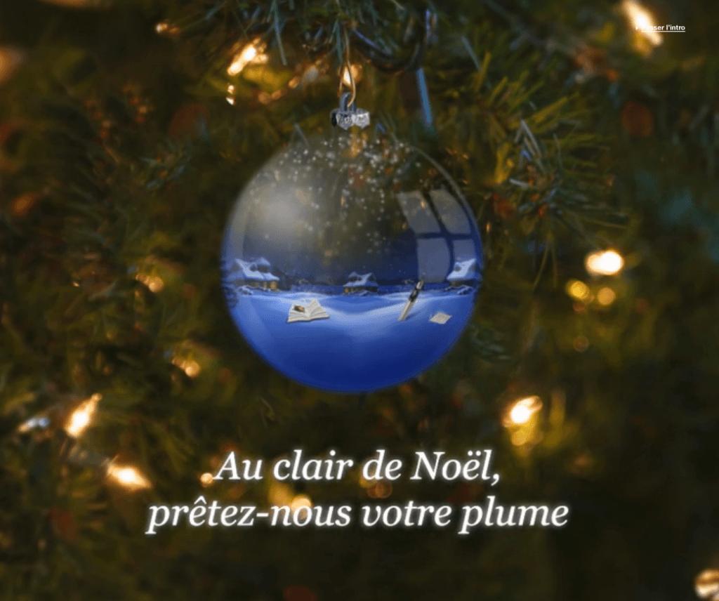 Au clair de Noël prêtez nous votre plume