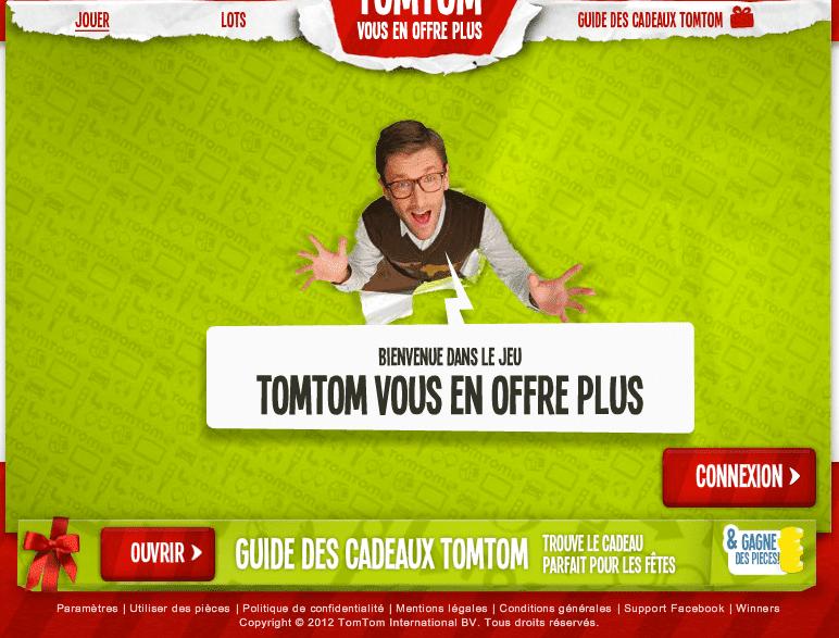 Bienvenue dans le jeu TomTom vous en offre plus