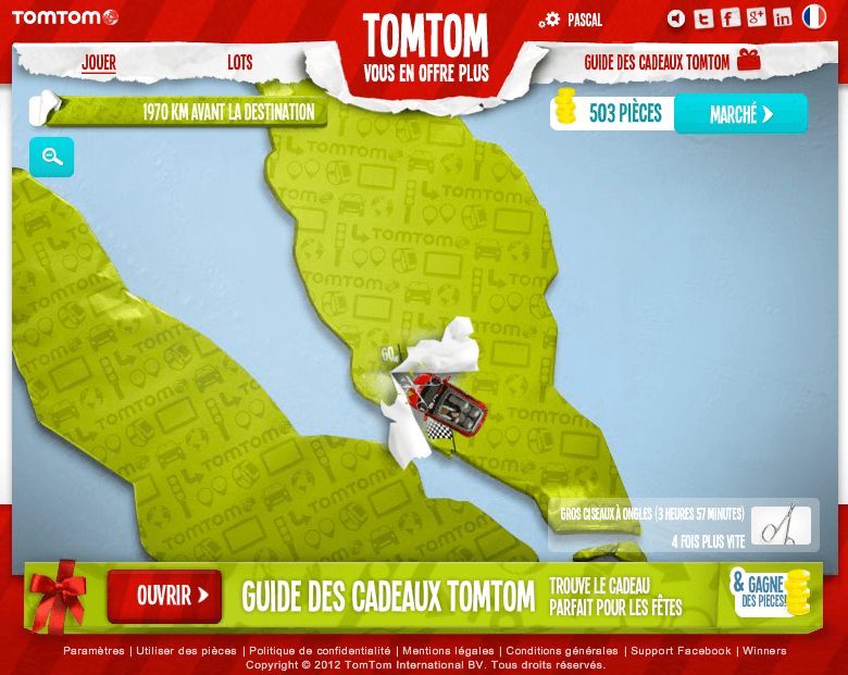 TomTom - 1970 KM avant la destination
