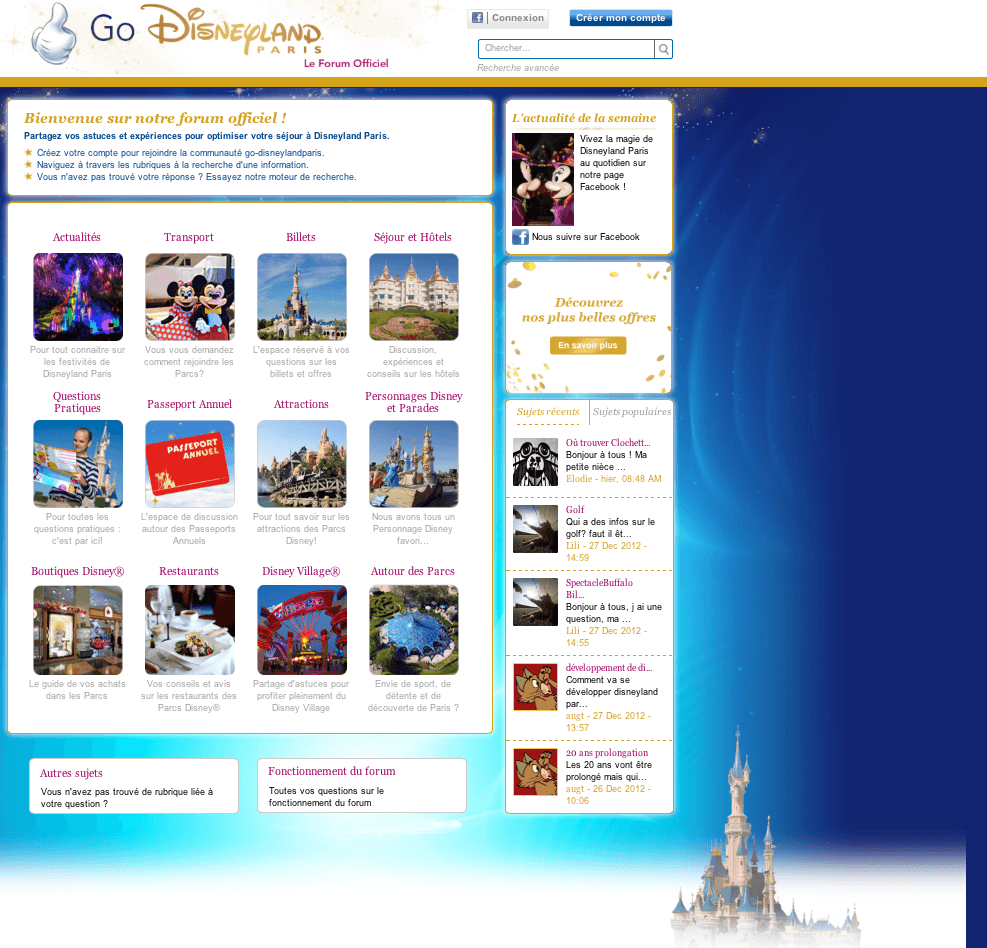 Go Disneyland - Page d'accueil