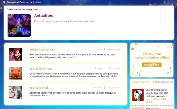 Go Disneyland - Actualités - Liste des forums