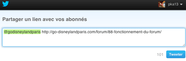 Go Disneyland - Partage Twitter