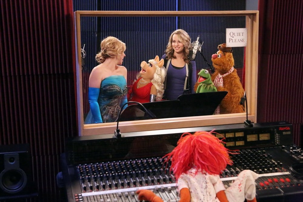 LEIGH-ALLYN BAKER, MISS PIGGY, BRIDGIT MENDLER, KERMIT THE FROG, FOZZY