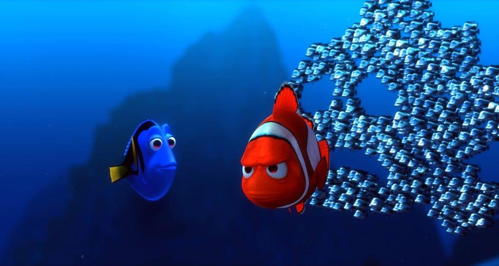 Marin et Dory dans Le Monde de Nemo