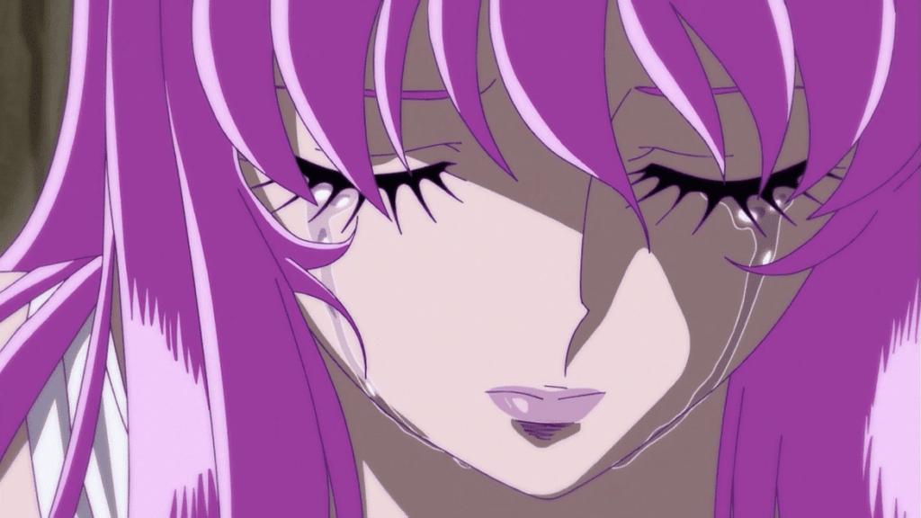 Saint Seiya Omega Arc 2 - Saori en larmes