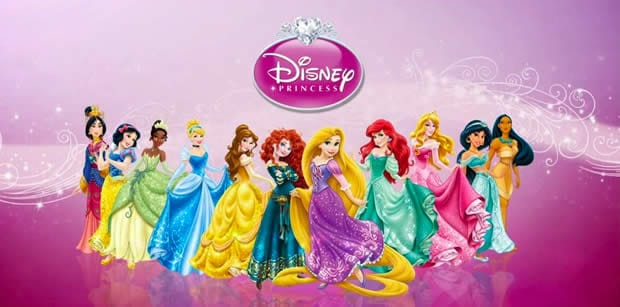 Les onze Princesses Disney réunies.