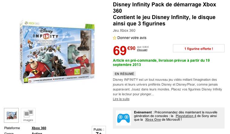 Infinity precommande FNAC