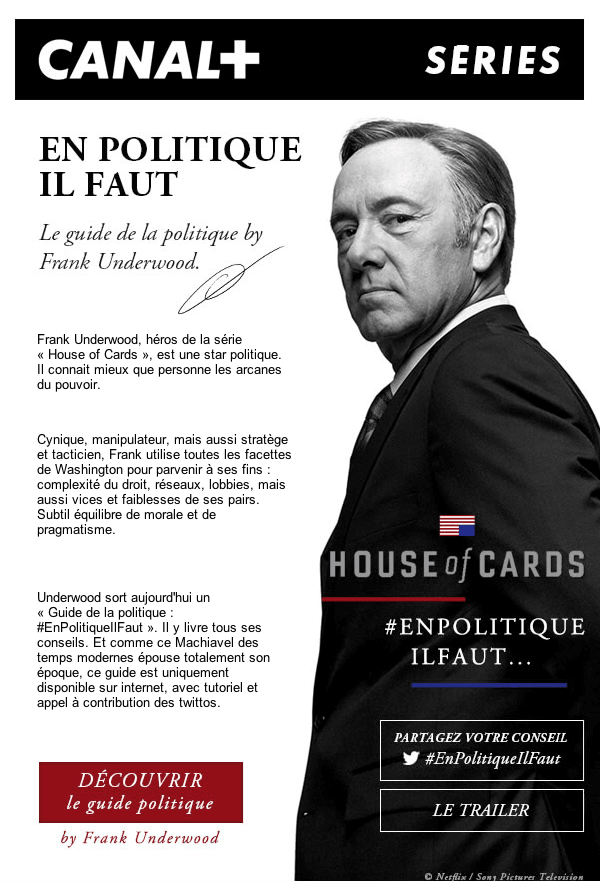 Canal Plus Series - House of Cards