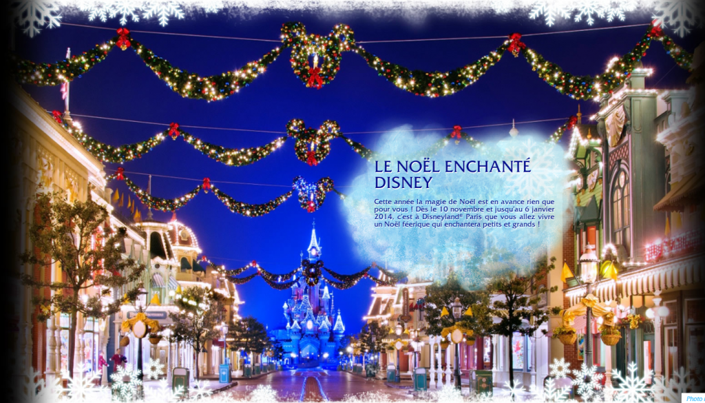 Decors de Noel Disneyland Paris
