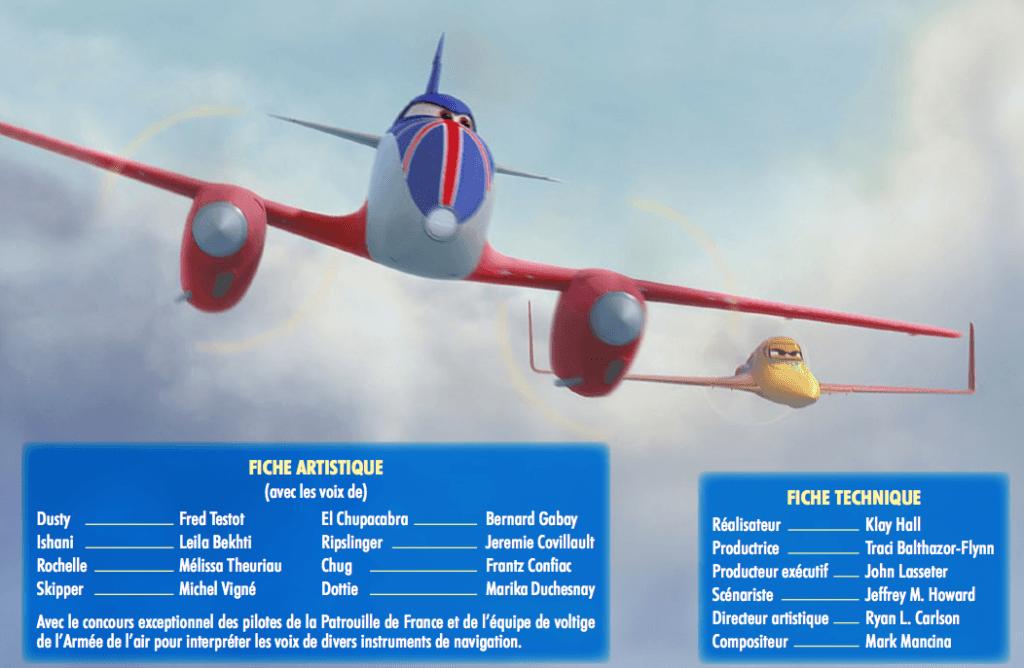 Disney Planes - Fiche technique et artistique