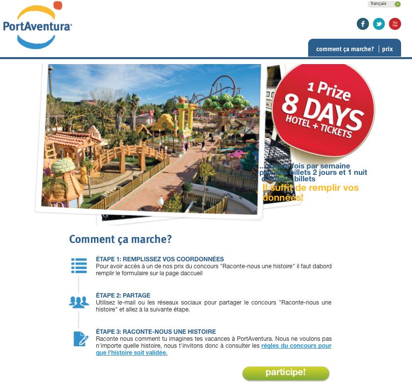 PortAventura - Concours - Les 3 etapes