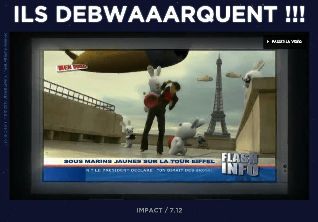 Ils debwaaarquent Les Lapins Cretins Futuroscope 3